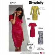 8787 Simplicity Pattern: Knit Pullover Dress in Two Lengths